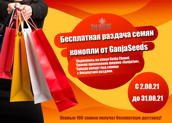 Раздача бесплатных семян конопли от GanjaSeeds